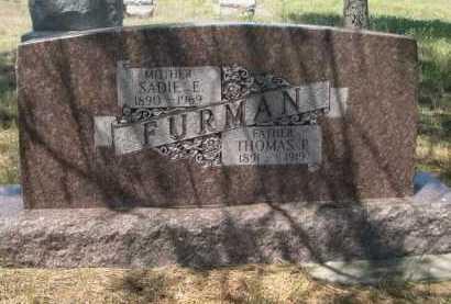FURMAN, SADDIE E. - Dawes County, Nebraska | SADDIE E. FURMAN - Nebraska Gravestone Photos