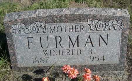 FURMAN, WINIFRED B. - Dawes County, Nebraska | WINIFRED B. FURMAN - Nebraska Gravestone Photos
