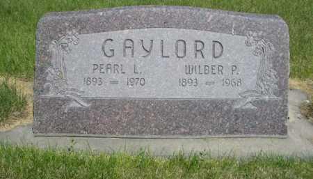 GAYLORD, WILBER P. - Dawes County, Nebraska | WILBER P. GAYLORD - Nebraska Gravestone Photos