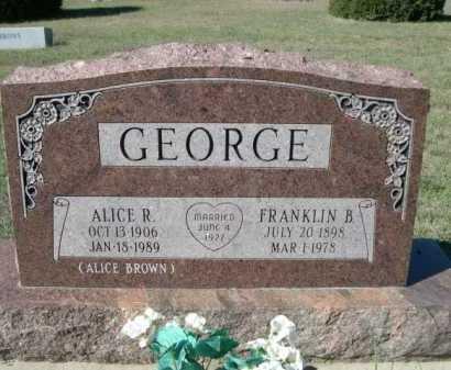 BROWN, ALICE - Dawes County, Nebraska | ALICE BROWN - Nebraska Gravestone Photos