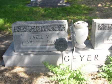 GEYER, HAZEL V. - Dawes County, Nebraska | HAZEL V. GEYER - Nebraska Gravestone Photos