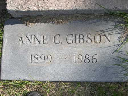 GIBSON, ANNE C. - Dawes County, Nebraska | ANNE C. GIBSON - Nebraska Gravestone Photos