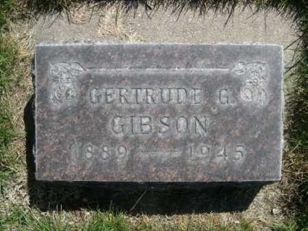 GIBSON, GERTRUDE G. - Dawes County, Nebraska   GERTRUDE G. GIBSON - Nebraska Gravestone Photos
