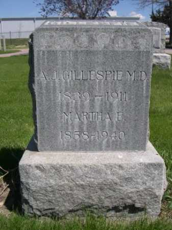 GILLESPIE, MARTHA E. - Dawes County, Nebraska | MARTHA E. GILLESPIE - Nebraska Gravestone Photos