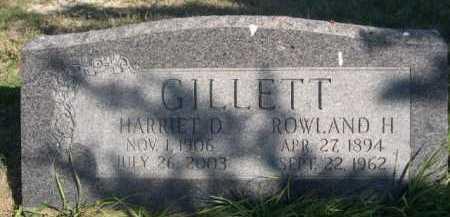 GILLETT, HARRIET D. - Dawes County, Nebraska | HARRIET D. GILLETT - Nebraska Gravestone Photos