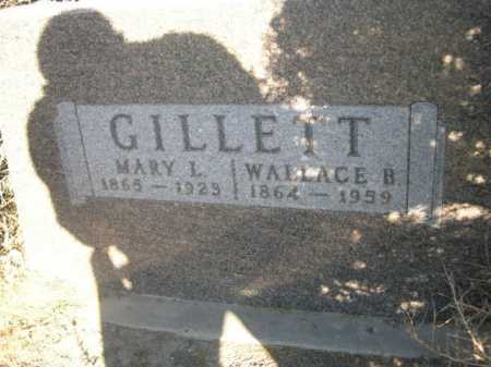 GILLETT, WALLACE B. - Dawes County, Nebraska   WALLACE B. GILLETT - Nebraska Gravestone Photos