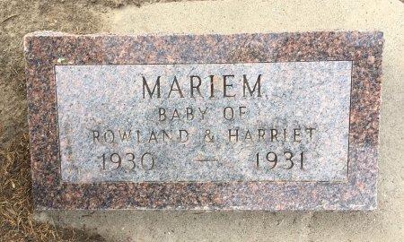 GILLETT, MARIEM - Dawes County, Nebraska | MARIEM GILLETT - Nebraska Gravestone Photos