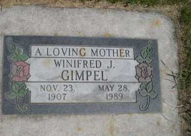 GIMPEL, WINIFRED J. - Dawes County, Nebraska   WINIFRED J. GIMPEL - Nebraska Gravestone Photos