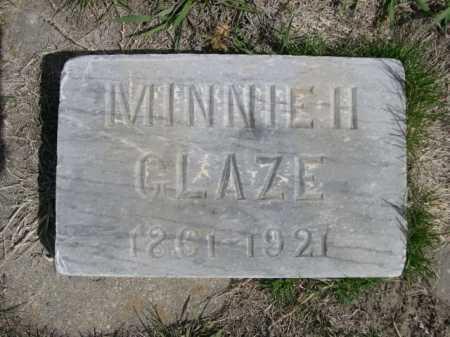 GLAZE, MINNIE H. - Dawes County, Nebraska | MINNIE H. GLAZE - Nebraska Gravestone Photos