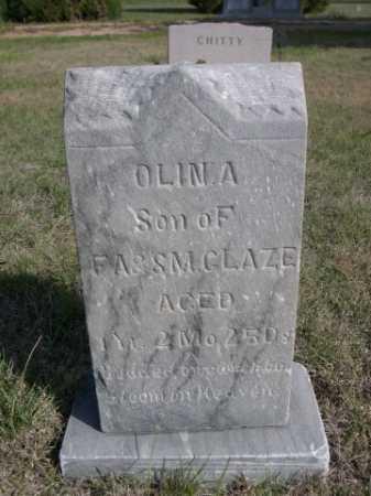 GLAZE, OLIN A. - Dawes County, Nebraska | OLIN A. GLAZE - Nebraska Gravestone Photos