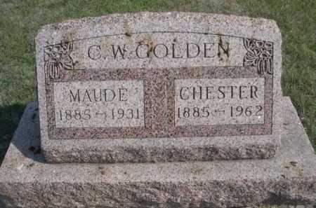 GOLDEN, CHESTER - Dawes County, Nebraska | CHESTER GOLDEN - Nebraska Gravestone Photos