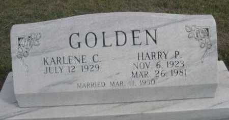 GOLDEN, HARRY P. - Dawes County, Nebraska | HARRY P. GOLDEN - Nebraska Gravestone Photos