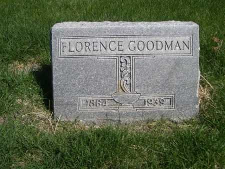 GOODMAN, FLORENCE - Dawes County, Nebraska | FLORENCE GOODMAN - Nebraska Gravestone Photos