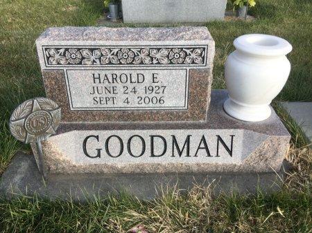 GOODMAN, HAROLD EARNEST - Dawes County, Nebraska | HAROLD EARNEST GOODMAN - Nebraska Gravestone Photos