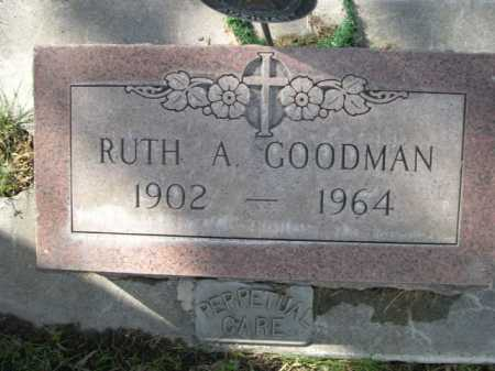 GOODMAN, RUTH A - Dawes County, Nebraska   RUTH A GOODMAN - Nebraska Gravestone Photos