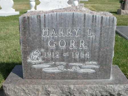 GORR, HARRY L. - Dawes County, Nebraska | HARRY L. GORR - Nebraska Gravestone Photos