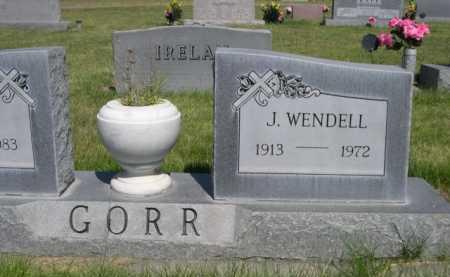 GORR, J. WENDELL - Dawes County, Nebraska | J. WENDELL GORR - Nebraska Gravestone Photos