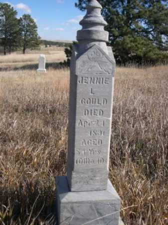 GOULD, JENNIE L. - Dawes County, Nebraska   JENNIE L. GOULD - Nebraska Gravestone Photos