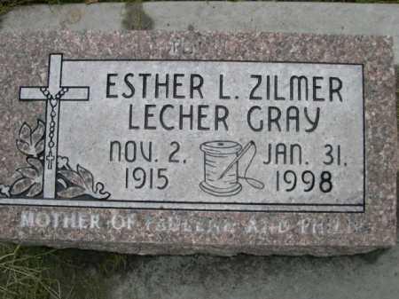 GRAY, ESTER L. ZILMER LECHER - Dawes County, Nebraska | ESTER L. ZILMER LECHER GRAY - Nebraska Gravestone Photos