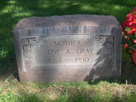 GRAY, OLIVE A. - Dawes County, Nebraska   OLIVE A. GRAY - Nebraska Gravestone Photos