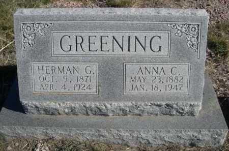 GREENING, HERMAN G. - Dawes County, Nebraska | HERMAN G. GREENING - Nebraska Gravestone Photos