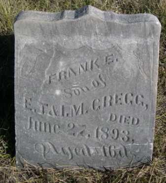 GREGG, FRANK E. - Dawes County, Nebraska | FRANK E. GREGG - Nebraska Gravestone Photos