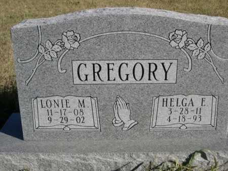 GREGORY, HELGA E. - Dawes County, Nebraska | HELGA E. GREGORY - Nebraska Gravestone Photos