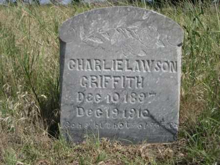GRIFFITH, CHARLEY LAWSON - Dawes County, Nebraska | CHARLEY LAWSON GRIFFITH - Nebraska Gravestone Photos