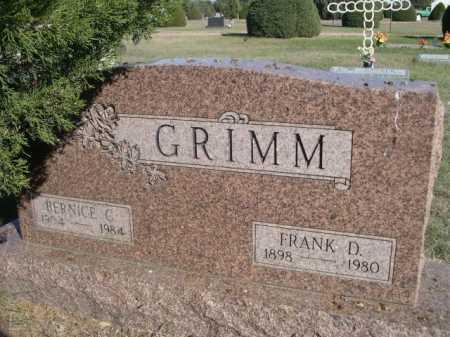 GRIMM, FRANK D. - Dawes County, Nebraska | FRANK D. GRIMM - Nebraska Gravestone Photos