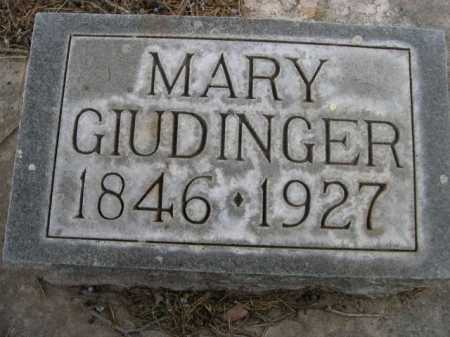 GIUDINGER, MARY - Dawes County, Nebraska | MARY GIUDINGER - Nebraska Gravestone Photos