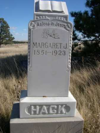 HACK, MARGARET J. - Dawes County, Nebraska   MARGARET J. HACK - Nebraska Gravestone Photos
