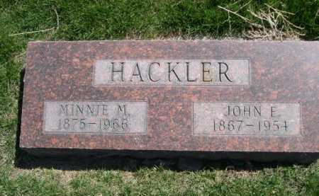 HACKLER, MINNIE M. - Dawes County, Nebraska | MINNIE M. HACKLER - Nebraska Gravestone Photos