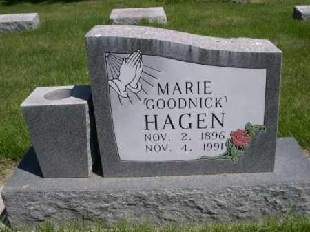 GOODNICK HAGEN, MARIE - Dawes County, Nebraska   MARIE GOODNICK HAGEN - Nebraska Gravestone Photos