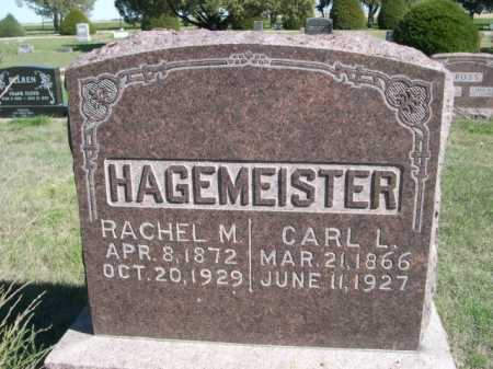 HAGEMEISTER, CARL L. - Dawes County, Nebraska | CARL L. HAGEMEISTER - Nebraska Gravestone Photos