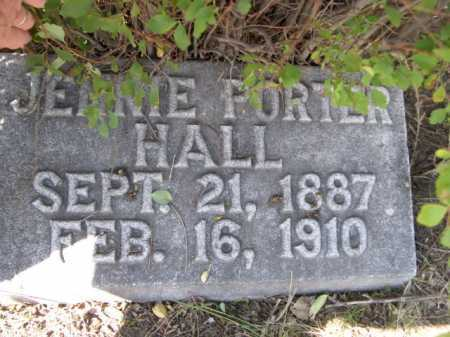 PORTER HALL, JENNIE - Dawes County, Nebraska | JENNIE PORTER HALL - Nebraska Gravestone Photos