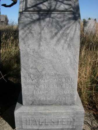 HALLSTED, ORA M. - Dawes County, Nebraska | ORA M. HALLSTED - Nebraska Gravestone Photos