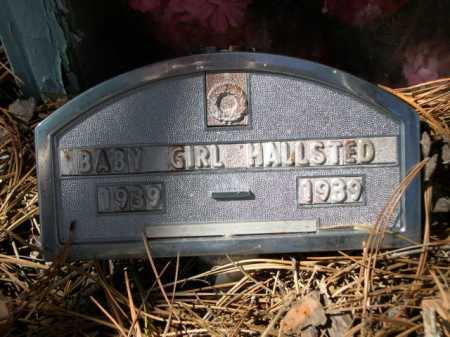 HALLSTED, BABY GIRL - Dawes County, Nebraska   BABY GIRL HALLSTED - Nebraska Gravestone Photos