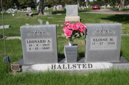 HALLSTED, LEONARD A. - Dawes County, Nebraska | LEONARD A. HALLSTED - Nebraska Gravestone Photos