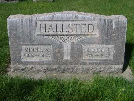 HALLSTED, MINNIE V. - Dawes County, Nebraska | MINNIE V. HALLSTED - Nebraska Gravestone Photos