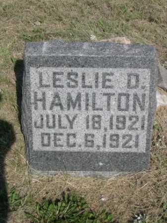 HAMILTON, LESLIE D. - Dawes County, Nebraska | LESLIE D. HAMILTON - Nebraska Gravestone Photos