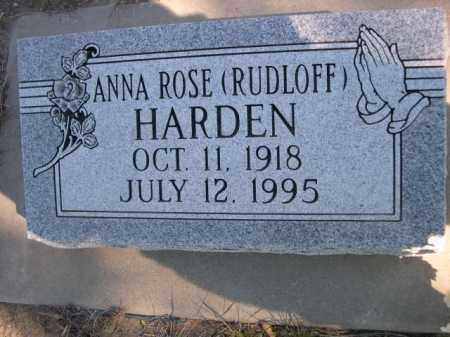 RUDLOFF HARDEN, ANNA ROSE - Dawes County, Nebraska | ANNA ROSE RUDLOFF HARDEN - Nebraska Gravestone Photos