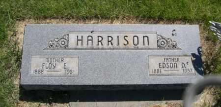 HARRISON, EDSON D. - Dawes County, Nebraska   EDSON D. HARRISON - Nebraska Gravestone Photos