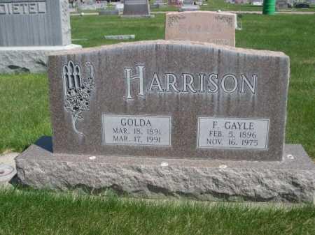 HARRISON, GOLDA - Dawes County, Nebraska | GOLDA HARRISON - Nebraska Gravestone Photos