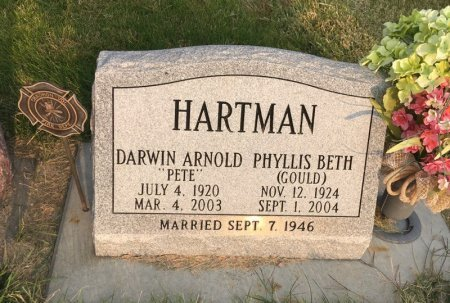 GOULD HARTMAN, PHYLLIS BETH - Dawes County, Nebraska | PHYLLIS BETH GOULD HARTMAN - Nebraska Gravestone Photos
