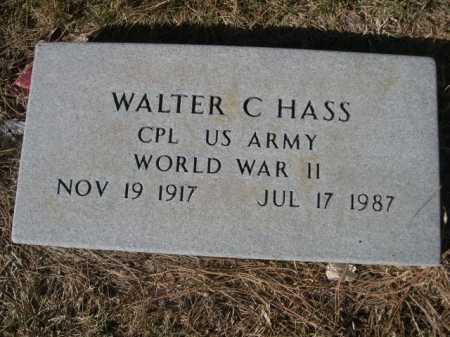 HASS, WALTER C. - Dawes County, Nebraska | WALTER C. HASS - Nebraska Gravestone Photos