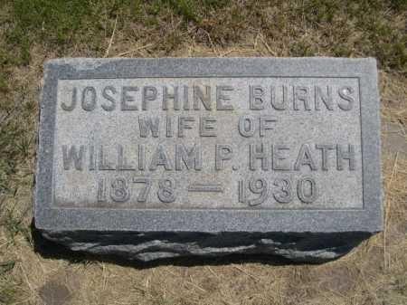 BURNS HEATH, JOSEPHINE - Dawes County, Nebraska   JOSEPHINE BURNS HEATH - Nebraska Gravestone Photos
