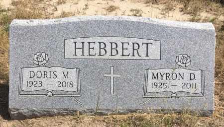 HEBBERT, MYRON D. - Dawes County, Nebraska   MYRON D. HEBBERT - Nebraska Gravestone Photos