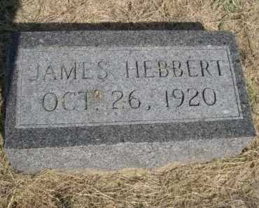 HEBBERT, JAMES - Dawes County, Nebraska | JAMES HEBBERT - Nebraska Gravestone Photos