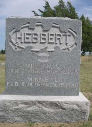 HEBBERT, WILLIAM S. - Dawes County, Nebraska | WILLIAM S. HEBBERT - Nebraska Gravestone Photos