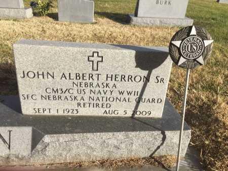 HERRON, JOHN ALBERT SR. - Dawes County, Nebraska | JOHN ALBERT SR. HERRON - Nebraska Gravestone Photos